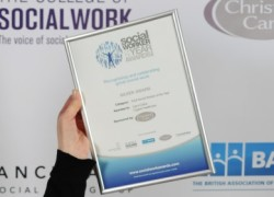 Carol's Silver Award in the 'Adult Social Worker of the Year' category.