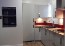 The kitchen area of the new flatlet at Cygnet Lodge Brighouse.