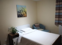 One of the new bedrooms on Cygnet Hospital Harrogate's Haven Ward.